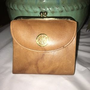 Leather, Tortoise Buxton Wallet w Gold Clasp